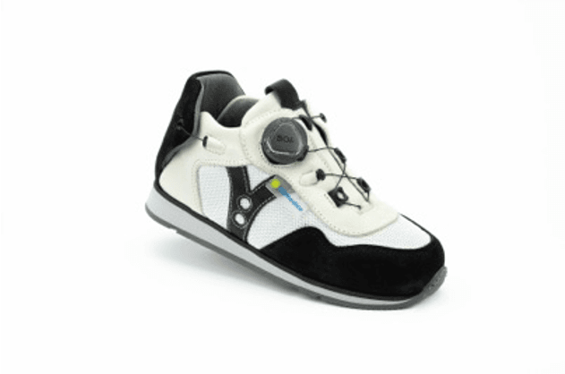 Napoli White/Black AFO Shoe