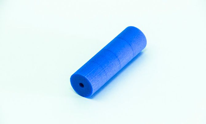 Blue foam sleeve 30x100mm